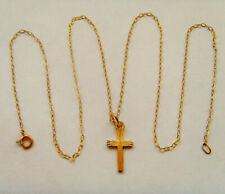 9ct Gold Cross & Chain