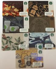 "Lot 7 Starbucks ""BRAILLE"" Gift Cards 2011 2013 2014 2015 2016 2017 2018 set NEW!"