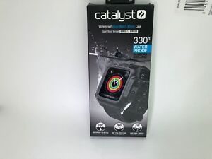 Catalyst Sport Band Waterproof Apple Watch 42mm Case for Series 3 & 2 Black mesh