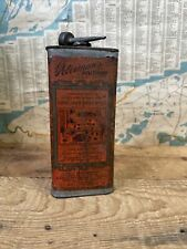 Antique 1910s Peterman's Discovery Liquid Bed Bug Killer 1 Pint Can Tin Litho