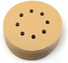 100pcs 5'' Inch 8-Hole 320 Grit Dustless Hook-and-Loop Sanding Disc Sander Paper
