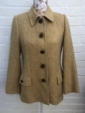 Jobis Wool Angora Jacket Blazer 38 10/12 Yellow Tweed Coat Gold Country