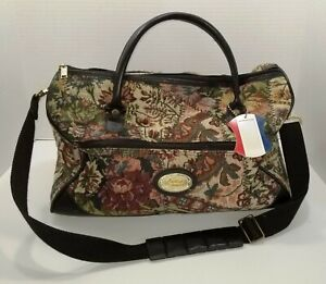 American Tourister Floral Tapestry Carry On Duffel Luggage Bag Free Shipping VGC