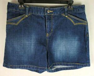 Tommy Hilfiger Womens Size 8 Blue Faded Denim Jean Shorts