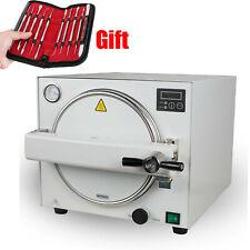 18l 900w Medical Dental Steam Sterilizer Autoclave Equipment Machine Free Gift