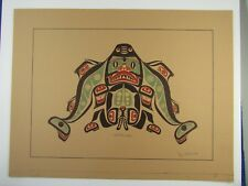 "c1975  Signed & Titled by Artist Jim Gilbert ""SHARK BOY"" print Haida style"