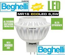 BEGHELLI FARO FARETTO INCASSO LED MR 16 GU 5.3 CALDA 6,5 W 12V W.WHITE 360 LM !