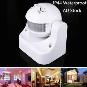 PIR Motion Sensor Detector Infrared Home 180° Light Control Switch 240V IP44 AU