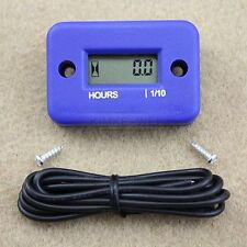 Inductive Hour Meter for Marine ATV Motorcycle snowmobile - Blue