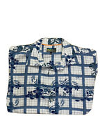 Golden  Breed Men's  Printed Button Up Short Sleeves Shirt Size Large