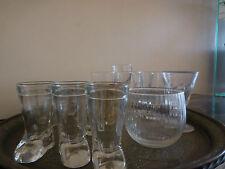 17 verres eau liqueur thé alcool tulipe vintage art déco design XXe PN France
