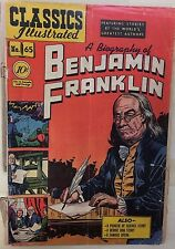 CLASSICS ILLUSTRATED #65 A Biography of Benjamin Franklin (HRN 64) 1st 1949 G/VG