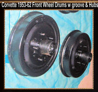 Corvette 1954 1956 1957 1958 1959 1960 1962  Brake Drum Front Drums w Wheel Hubs