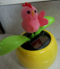 Dancing Solar Power  Pink Little Peeps Rooster Flower Easter Sunday Handcrafted