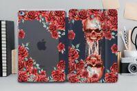 Floral iPad 6 Smart Cover Blood Skull iPad Air 2 3 Case Flower iPad 11 12.9 2018
