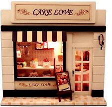 Handkraft DIY Miniature Project Doll House European Shop Cake Love Bakery Kit