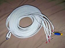 BOSE-ACOUSTIMASS 6/10/15 SUBWOOFER TO RECEIVER -SPEAKER CABLE CABLES WHITE