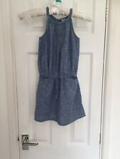 Girls Next Denim Summer Dress Sleeveless Age 4 Years Blue Lightweight