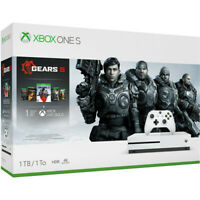 Xbox One S 1TB Gears 5 Console Bundle - White Xbox One S Console And Controller