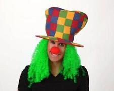 Peluca verde con sombrero disfraz payaso