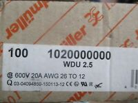 (Lot of 10) Weidmuller 1020000000 WDU  2.5 600V 20A AWG 26 to 12 Terminal Block