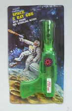 Vintage toy SPACE X RAY GUN friction pistol MOC 1960's green model