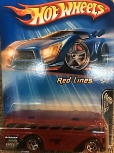 2005 Hot Wheels Surfin' Scool Bus Red Lines #96