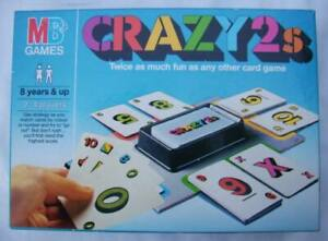MB CRAZY 2s CARD GAME (1985) COMPLETE