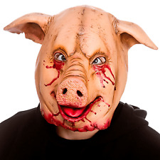Adults Mens Scary Killer Horror Pig Mask SAW Fancy Dress Halloween Accessory