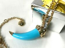 Juicy Couture horn pendant necklace