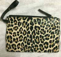 NEW Kate Spade Mya Leopard Leather Pouch ONLY (Tote sold separately) WKRU5504