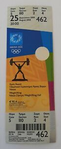 2004 Athens Olympic Games, weightlifting unused ticket, code: 462