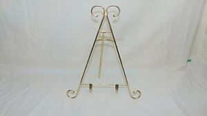 """GOLD TONE PLATE HOLDER 10 1/2"""" TALL"""