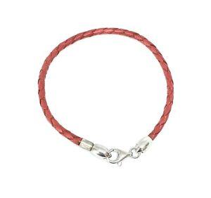 Baci Belli Damen Armband 925 Sterlingsilber Leder rot 3181012