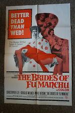 BRIDES OF FU MANCHU  CHRISTOPHER LEE  HORROR  ONE SHEET  1966
