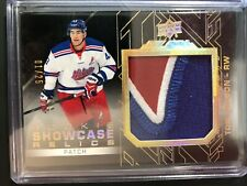 2015-16 Tom Wilson UD Black Rookie Showcase Relics 3 Color Patch 01/25