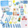 35Pcs Toy Medical Kit for Kids Doctor Pretend Play Equipment Dentist Case Kit