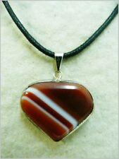 Colgante corazon de agata, agate pendant.  6-71