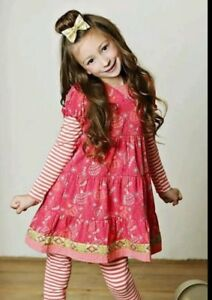 NWT Matilda Jane Persephone Dress Tiered Red Ornaments Christmas Holidays Size 6