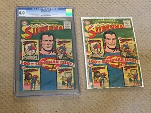 Superman 100 CGC 4.0 OW/White Pages with Extra Copy!!