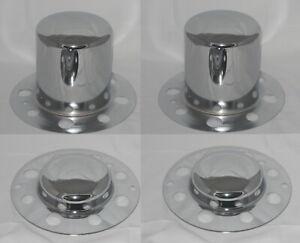 SET OF 4 DUALLY FITS SOME ALCOA EAGLE 8 LUG WHEEL CENTER CAPS CHROME NO LOGO
