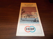 1964 Co-Op Kansas/Nebraska Vintage Road Map