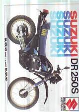 SUZUKI DR250S  GS1100G GR650E VF750GL GSX1100F GF250S DS80 A100 BROCHURES etc