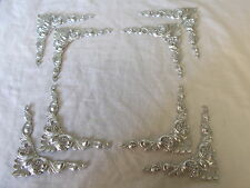 MIRROR FRAME OR PICTURE FRAME 8 ORNATE CORNER MOULDINGS METALLIC SILVER