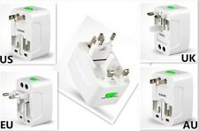 AU US UK to EU AC Power Plug Travel Adapter Outlet Converter Socket Receptacle
