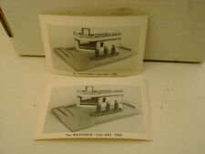 2 1947-1954 LESNEY PRODUCTS PRE MATCHBOX TOY MUSEUM 1ST GARAGE SET POST CARD