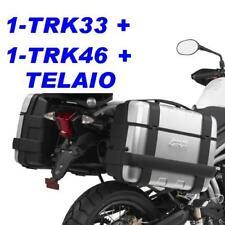KIT VALIGIE GIVI TRK33 + TRK46 + TELAIO RAPIDO PLR6409 TRIUMPH 800 XC XR ALLUMIN