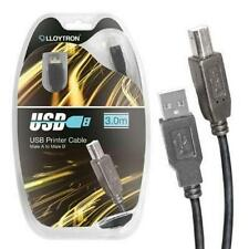Lloytron A2312 USB Printer Scanner Connector Lead Cable 3.0m Male Type A to B