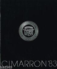 1983 CADILLAC CIMARRON Sales Brochure / Catalog