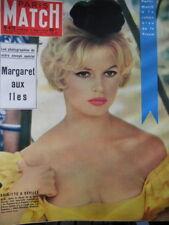 París Match N º 473 de 1958 Brigitte Bardot/ Antártico/ la Reina las Gitanos